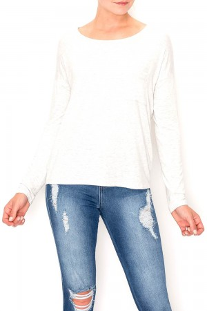 Long Sleeve Pocket Front Top