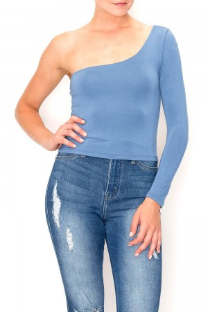 Rayon Modal Jersey One Shoulder Top