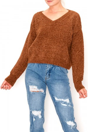 Knit Woven Sweater