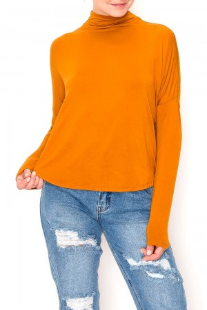 Turtle Neck Loose Top