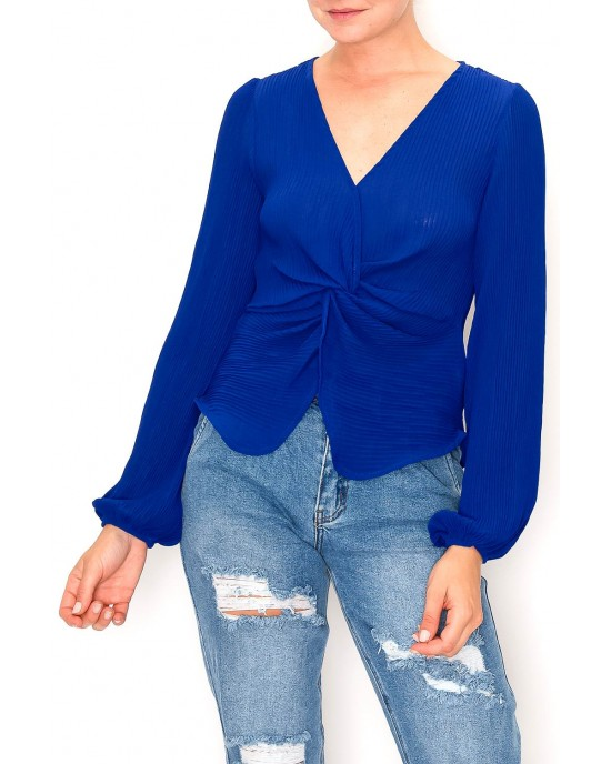 Knotted Effect Blouse Top