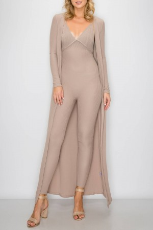 Jumpsuit with Cardigan Set