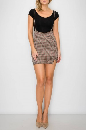 Plaid Check Patterned Skirt