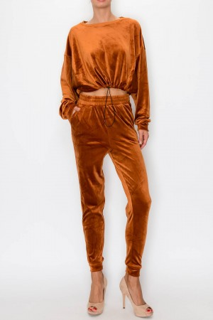Soft 2 Piece Set Pants & Sweatshirt