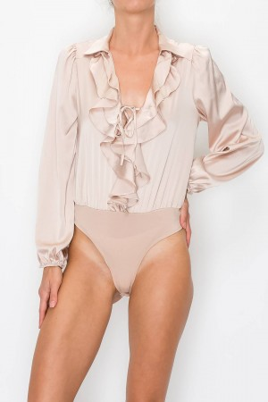 Ruffled Front Bodysuit
