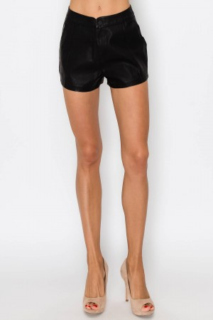 Leather Basic Shorts