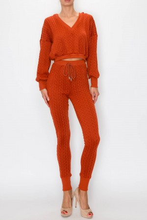 Long Sleeve Top and Pants Lounge Set