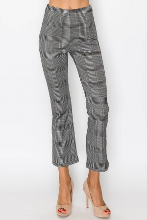 Gray Patterned Pants