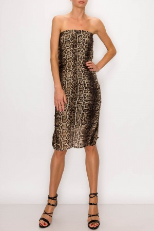 Double Fringed Leopard Maxi Skirt Dress