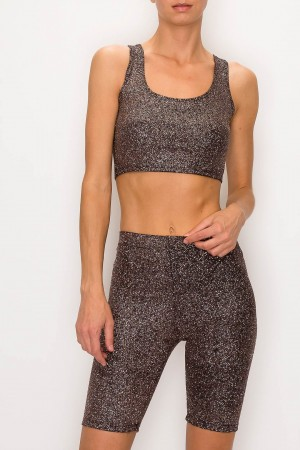 Glitter Crop Top Set