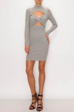 Crossed Front Statement Dress