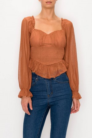 Sweetheart Mesh Top