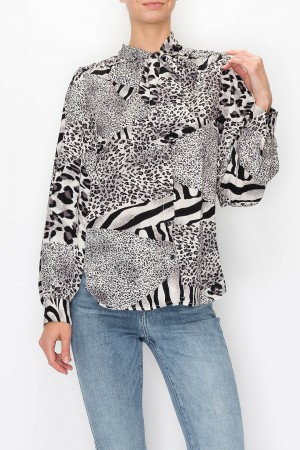 Elle Animal Print Blouse