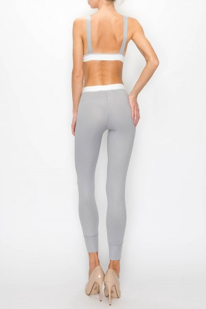 Soft Lounge Bralette Ankle Leggings Set