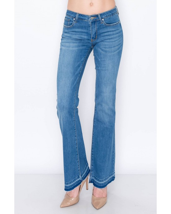 Mid Rise Boot Cut with Released Hem