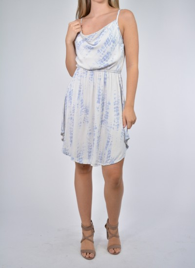 Cami Strap Printed Tie-Dye Dress