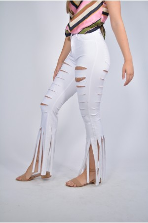 Distressed Cowboy Style Jeans