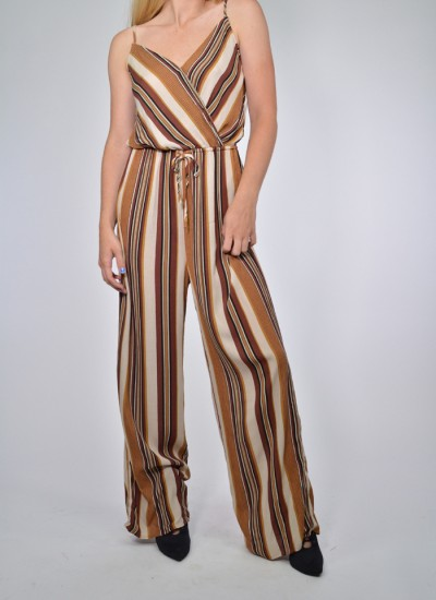 Barcode Striped Jumpsuit