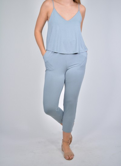 Double Layered Top Jumpsuit
