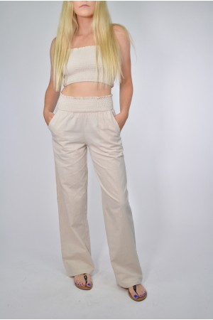 Smocked Tube Top With Pant Set